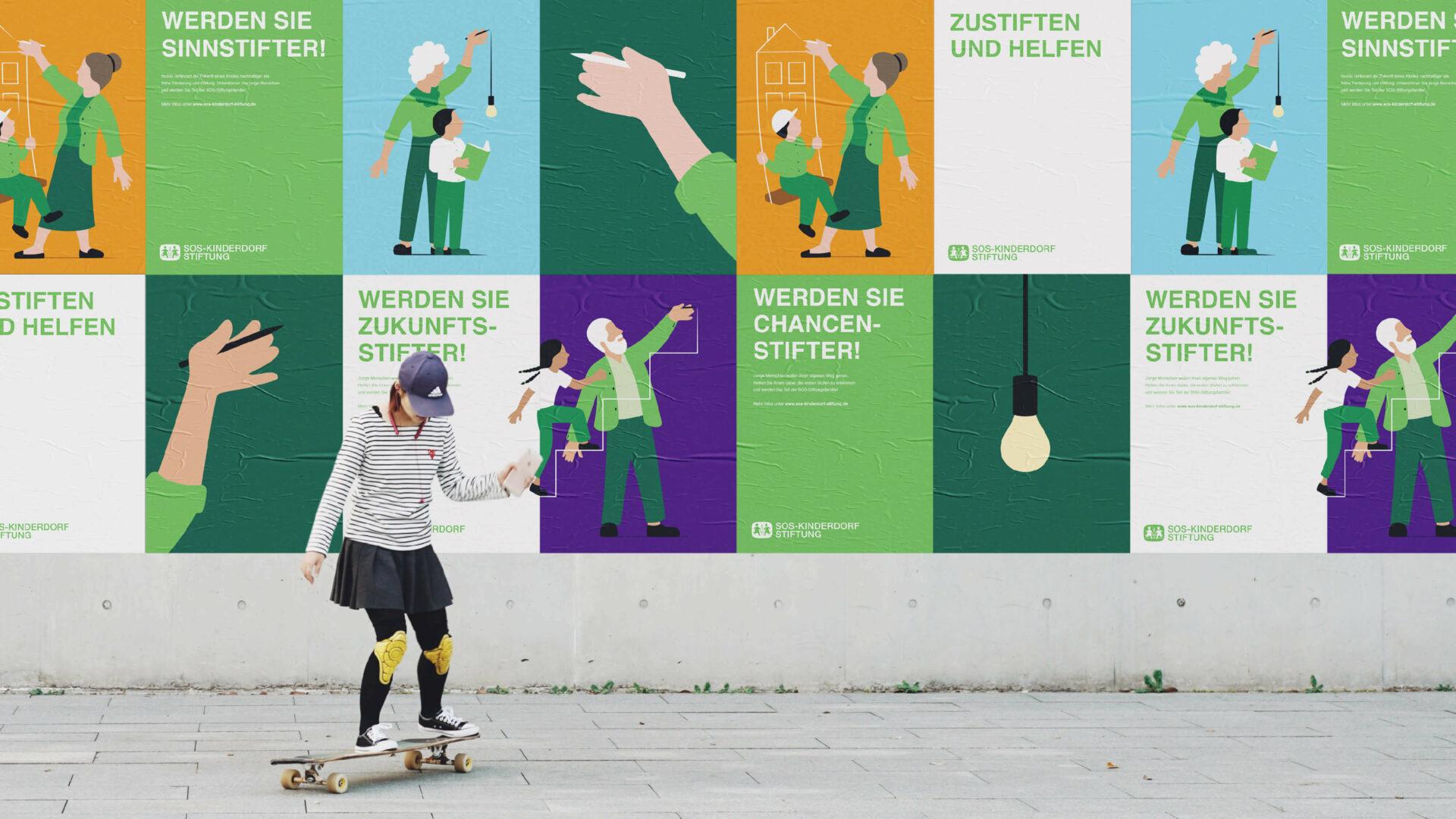 SOS-Kinderdorf Stiftung Posterwall